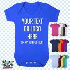 Custom PERSONALIZZATA BABY GROW Tuta dormire Gilet Romper Regalo-scegliere testo/logo 2