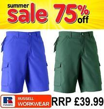 SUMMER SALE Russell Mens WorkWear Cargo Trouser Combat Heavy Duty Teflon Shorts