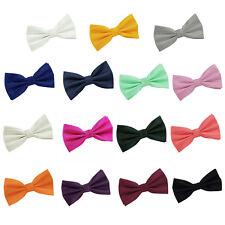 Men's Bow Tie Solid Check Jacquard Pre-Tied Casual Formal Adjustable Tuxedo Bow
