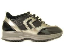 Geox j9156q happy black scarpe bambina invernali suola alta glitter noir