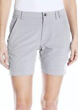 "SPYDER Ella Cirrus Light Grey 6"" Wicking Shorts NEW Womens Sz S Small  872168"