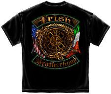 IRISH AMERICAN FLAG T Shirt Ireland USA Double Flag Celtic BROTHERHOOD Tee S-3XL