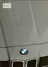 BMW 6-SERIES 1982-83 UK Market sales brochure 635 628 CSi