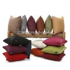 New Modern Soft Linen Effect Plain Chenille Handmade Cushion Cover & Filling