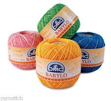 DMC BABYLO S 50g ou 100g Crochet Coton Tricotage Fil fil Sizes 10, 20, 30, 40