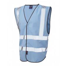 Leo Workwear Pilton Sky Hi Vis Reflective Waistcoat