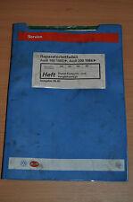 Werkstatthandbuch Reparaturleitfaden AUDI 100 200 1983 Einspritz Vorglühanlage