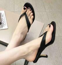 Kitten Heel Pumps Slippers Womens Mules Flip Flops Shoes Summer Pointy Toe 6cm