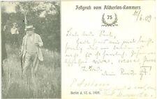 Studentika, Berlin, Festgruß vom Ascherson-Kommers, 1909