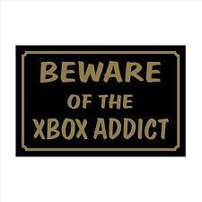 Beware of the XBOX- 160mm x 105mm Plastic Sign / Sticker  House, Garden, Pet