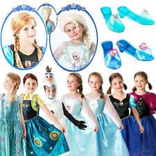 Disney Frozen Niñas Vestido De Fantasía Cuento De Hadas Princesa Childs Niños Disfraces de película