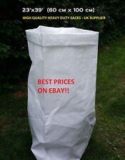 "WOVEN POLYPROPYLENE BAGS / RUBBLE SACKS GARDEN SKIP SIZE 60x100cm (23x39"")"