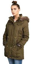 NUOVA linea donna manica lunga Pelliccia Con Cappuccio Coda Di Pesce Taglie Forti Giacche Cappotti 10-26