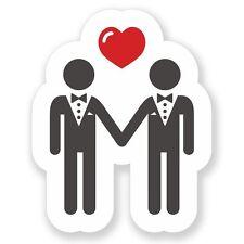 2 x Matrimoni gay Adesivo Vinile Portatile da Viaggio Bagaglio #4112
