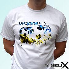 Ukraine football flag - white t shirt top soccer - mens womens kids baby sizes