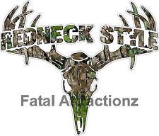 Camo Redneck Style  Deer Skull S4 Vinyl Sticker Decal buck hunting