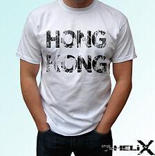 Indicateur haut Hong Kong - blanc t shirt China design - mens womens enfants bébé