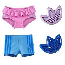 Adidas Set Baby Badehose + Sandform Mädchen Badeanzug Hose Geburt Geschenk pink