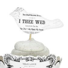 Set of 12 Cupcake Picks Bridal Shower Wedding Cake Cupcake Decorations