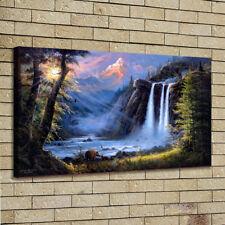 Home Decor, Oil Painting Modern Art Print Canvas Jesse Barnes Beneath The Falls