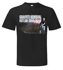 Banksy Graffiti eliminación Hotline Camiseta-Tallas Pequeño a Xxxl