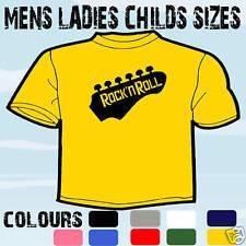 Rock N Roll Guitarra Camiseta Todos Los Tamaños Y Colores