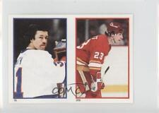 1985 O-Pee-Chee Album Stickers #209-76 Paul Reinhart Billy Smith Calgary Flames