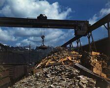 Scrap metal gets recycled in Brackenridge Pennsylvania WWII 1941 Photo Print