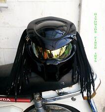 Black Custom Predator Motorcycle Helmet