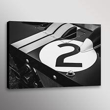Classic Ford GT40 Le Mans Racecar Car Automotive Photo Wall Art Canvas Print