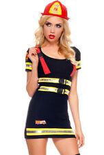 Music legs womens fire fighter suspender costume