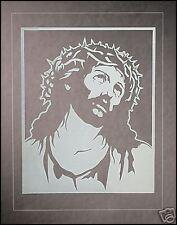Catholic Window Decal Cling ECCE HOMO Jesus ~white~