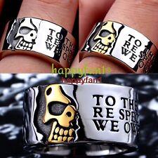 Stainless Steel Skull Ring Vintage Gothic Biker Punk Harley Davidson Riders Men