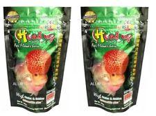 2 bags of Okiko Head Up flowerhorn food from USA