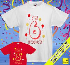 Kids Personalised Birthday T-Shirt Gift Children's Present Top Custom Fun Tee