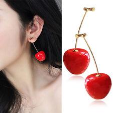Fruit Stud Earrings For Women Girls 1Pair Cute Sweet Simulation Red Cherry