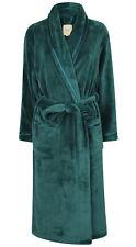 Ladies Warm Fleece Bathrobe / Dressing Gown by Florentina, Teal with Ribbon Trim