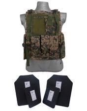 Tactical Scorpion 4 Pc Level III+ / AR500 Body Armor Bearcat Digital Woodland