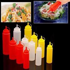 8-24OZ Squeeze Bottle Dispenser Cruet Sauce Mustard Oil Ketchup Condiment Jam WA
