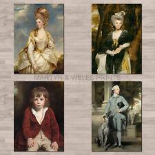 Joshua Reynolds A4 canvas paper / poster prints. Georgian, fine art portraits.