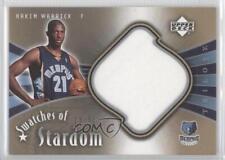 2005 Upper Deck Trilogy Swatches of Stardom #SW-HW Hakim Warrick Basketball Card