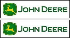 John Deere Decals x2 150mm x 35mm