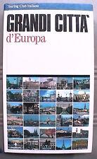 GRANDI CITTA D EUROPA Touring Club Italiano 1990 Viaggi Turismo Guida Geografia