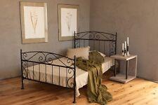 metallbett in schwarz 140x200 aus schmiedeeisen inkl. lattenrost