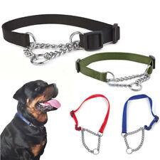 Dog Adjustable Half Semi Choke Choker Check Chain Training Collar Trainer Newly