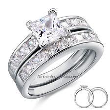 Conjunto de 2 alianzas (boda-compromiso) en Plata maciza de 1ª ley