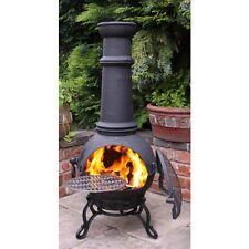 Cast Iron Chiminea Patio Heater BBQ Chimenea Combined Cast Iron Barbeque Firepit