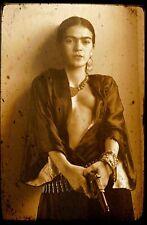 Frida Kahlo Mexican self-portraits painter with Gun Silk Poster 8x12 24x36 24x43
