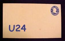 U24 RARE US MINT ENTIRE, NO PERIOD FRANKLIN, c1880