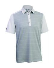 Ashworth Golf Mens Front Panel Print Polo Shirt